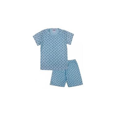 Conjunto Pijama Infantil Âncora Azul Sapekinhas - SK1010-AZ
