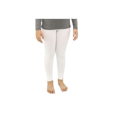 Imagem de Calça Legging Infantil Menina Térmica Conforto Esporte Frio Branco