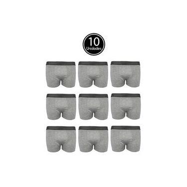 Imagem de Kit 10 Cueca Box de Algodão Cinza Cotton Boxer Masculino C5