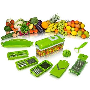 Imagem de Nicer Dicer Plus Cortador Fatiador Legumes Verduras Frutas 228 - Lorben