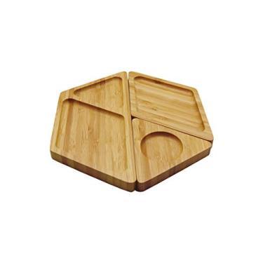Imagem de Petisqueira de Bambu Hexagonal desmontável - Oikos