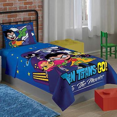 1e3deff41 Jogo de Cama Solteiro Infantil Teen Titans Go Lepper 2 Peças