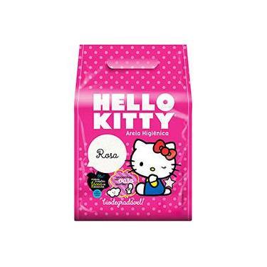 Areia Higiênica Hello Kitty Rosa - 2Kg