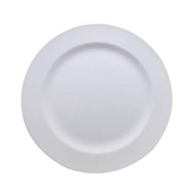 Kit 25 Pratos Plásticos de Refeição Brancos Duros