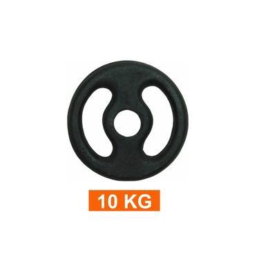 Anilha para Barra Musculação Treino Funcional - 10 Kg - Pintada - Unidade - Pentagol