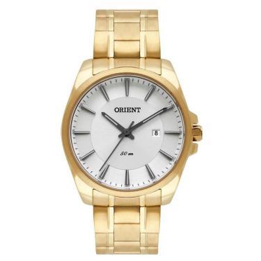 03233823b6a Relógio Masculino Orient Mgss1147 S1kx Social Dourado
