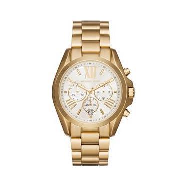 f58dedb186188 Relógio Michael Kors Feminino Bradshaw Cronógrafo Dourado MK6266 4BN