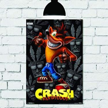 Placa Decorativa Mdf Crash bandicoot 20cm x 30cm