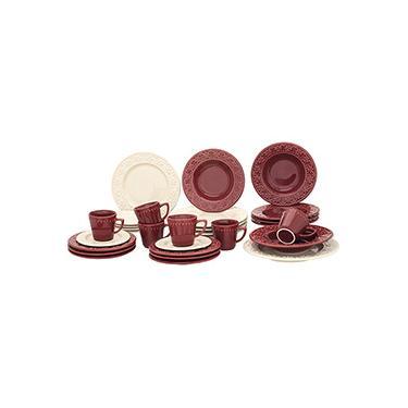 Aparelho de Jantar 30 peças Cerâmica Mendi Corvina Marfim - Oxford Daily