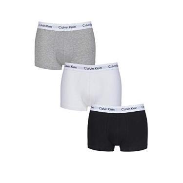 Kit 3 Cuecas Boxer Calvin Klein Life Alg. Branca/Preta/Cinza