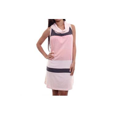 Vestido Checklist Stripe Rose