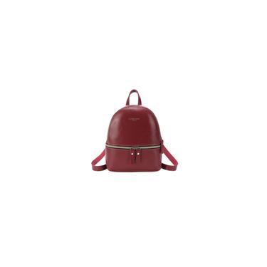 Imagem de Vinho 2 Pcs Moda Mulher Lazer Bolsa Chic Backpack pu Red