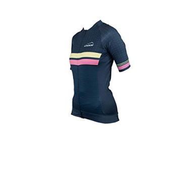 Camisa Ciclismo Feminina Bike Oggi Skin Manga Curta Woom Supreme (Azul Amarela Oggi, M)