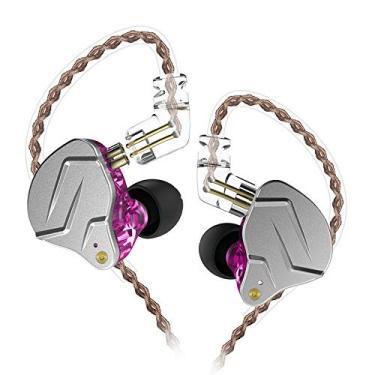 CIC MP3 Fone de Ouvido para celular headfone com fio KZ-ZSN Pro fone de ouvido intra auricular Borracha 3.5mm Audio Plug sem Microfone