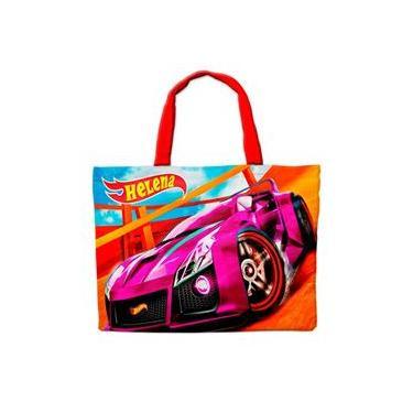 Imagem de Sacolinha em Nylon Personalizada Para Lembrancinha de Festa de Aniversário Tema Hot Wheels Cod5109
