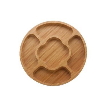 Imagem de Petisqueira Redonda Ecokitchen em Bambu 32 cm Mimo Style