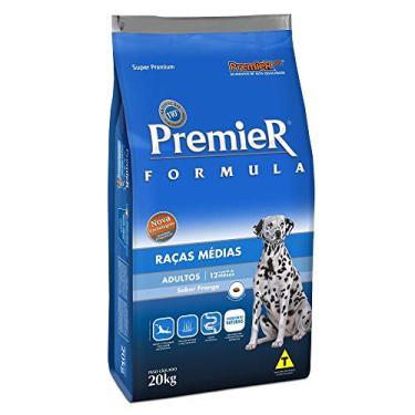 Ração Premier Fórmula para Cães Adultos de Raças Médias Sabor Frango, 20kg Premier Pet Raça Adulto,