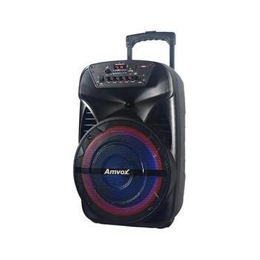 Caixa Amplificadora Amvox ACA 280 Black, Bluetooth, USB, Entrada Auxiliar - 280W