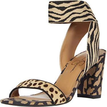 Jessica Simpson sandália feminina Siesto 2 com tira no tornozelo natural, Natural Leopard, 10