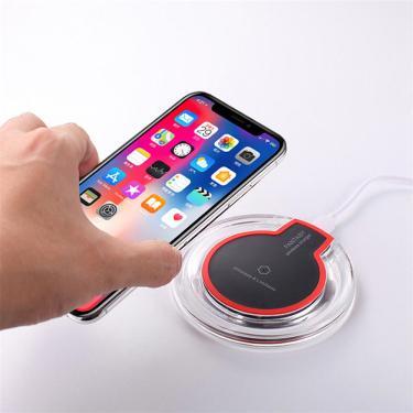 Base da almofada do carregador sem fio ultrafina de carregamento rápido Bakeey 10W para iPhone X XS HUAWEI P30 Oneplus 7 Banggood