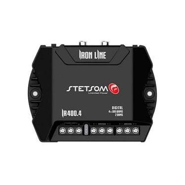 Modulo Amplificador Stetsom 400 Rms IR-400.4 Iron Line Stereo Digital 4 Canais 2 Ohms Classe D Rca Crossover Full Range Stetsom Ir 400 Stetsom