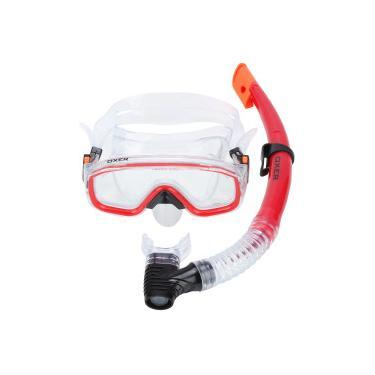 32efc0595 Kit de Mergulho  Snorkel e Máscara de Mergulho Oxer Argus - Adulto -  VERMELHO Oxer