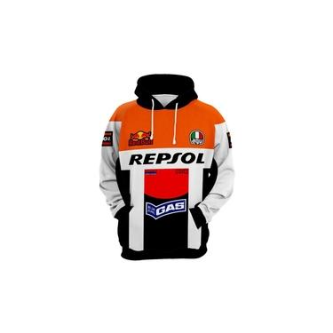 Blusa Moto Gp Racing Repsol Moletom Red Bull