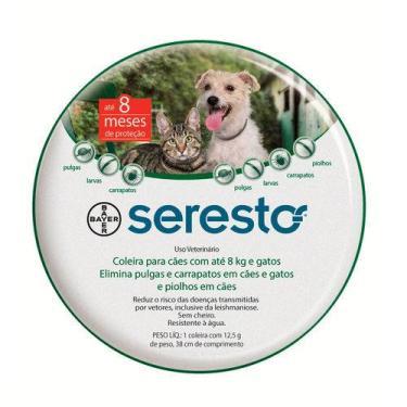 Coleira Seresto Cães e Gatos até 8 Kg