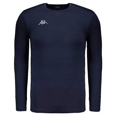 Camisa Térmica Kappa Grip Manga Longa Marinho 3a7db6484d4ec