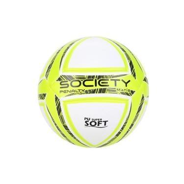 Bola de Futebol Society Penalty Matís - Branca/Amarelo