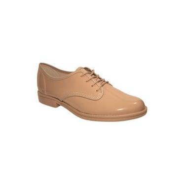 Sapato Oxford Feminino Beira Rio - 4170300 Nude Verniz