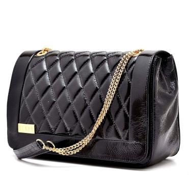 Bolsa Hendy Bag Verniz Preta  feminino