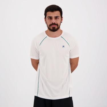 Camiseta Fila Cinci Branca e Verde - M