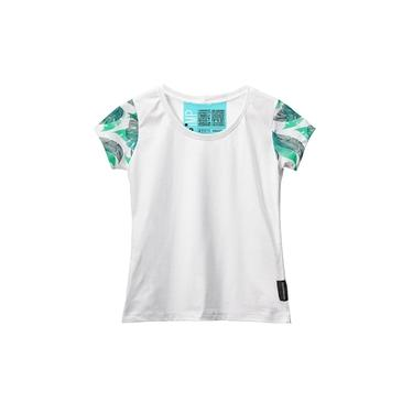 Camiseta Baby Look Feminina Algodão Manga Curta Macia Estilo Branco