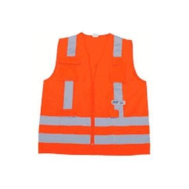 Colete Refletivo Lj 4 Bolsos Tam G - Worker