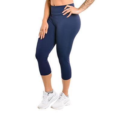 Imagem de Calça Selene Corsário Fitness - Azul