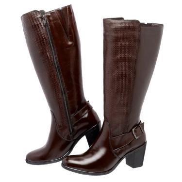 7e1505df2 Bota Art Shoes Montaria Cano Alto Ref. 240 Marrom 240 LBM feminino