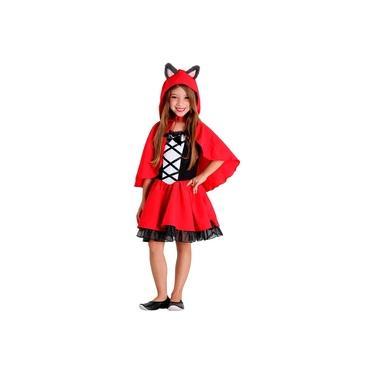 Imagem de Fantasia Infantil Chapeuzinho Vermelho Luxo