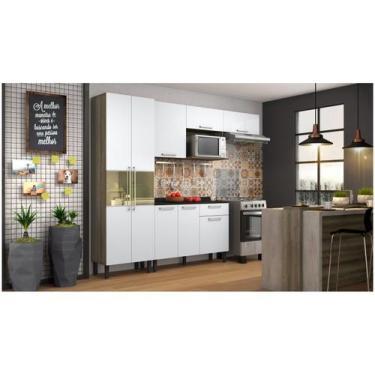 Imagem de Cozinha Compacta Itatiaia Madeira Lya - Nicho para Micro-ondas 5 Porta