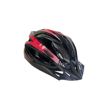 Capacete ciclismo masculino Vermelho Elleven Tamanho Grande