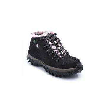 fdf19ea76eb Bota Tênis Adventure Feminino Trail Walking 33 Ao 46 900 Bg Preto Com Rosa