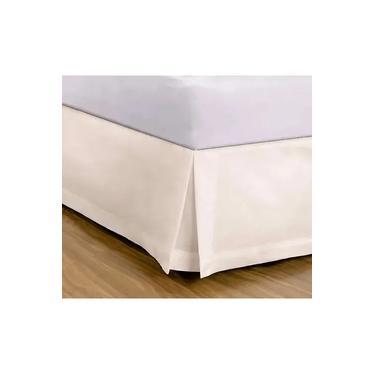 Imagem de Saia para Cama Box Queen Percal 180 Fios Buettner Marfim