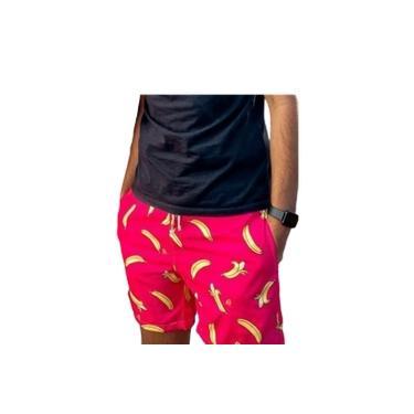 Bermuda Adulto Masculino Banana Rosa
