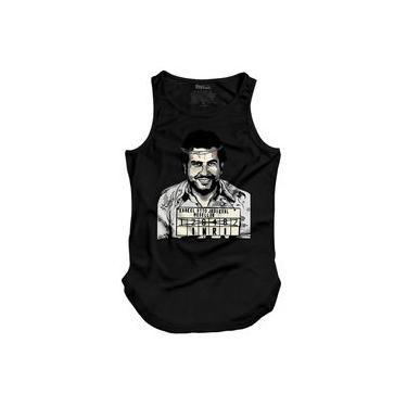 Camiseta Masculina Regata Longline Pablo Escobar