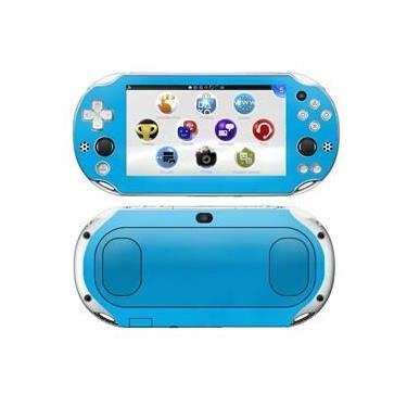 Kit Skin Adesivo Protetor PS VITA Playstation 2000 Slim (Azul)