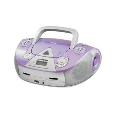 Som Portátil Philco PB126L com CD Player MP3, Rádio FM, Entrada USB e Auxiliar de Áudio - Lilás