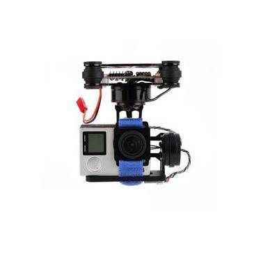 Alta qualidade FPV 3 eixos CNC Cardan sem escova de metal com controlador para DJI Phantom-goPro 3 4 180g para RC Drone FPV Racing