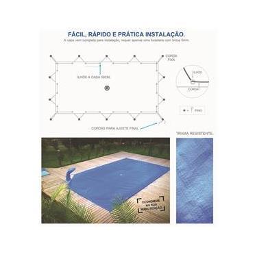 Capas para Piscinas LONA FORTE 7 x 4 - Proteção e Economia