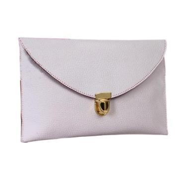 Bolsa feminina Gaorui com corrente de ombro para noite, bolsa tipo sacola, multicores, Branco, Envelope