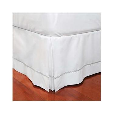 Imagem de Saia para Cama Box King Plumasul em Percal com Sianinha 180 Fios - Branca